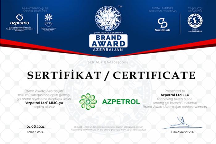 Winners of 5th national Brand Award Azerbaijan contest announced